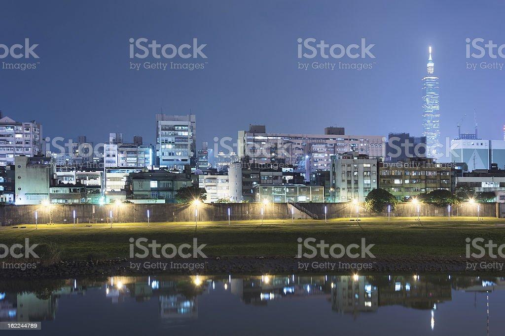 Urban night royalty-free stock photo