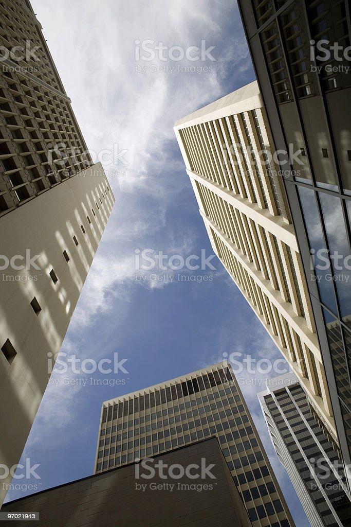 Urban office blocks stock photo