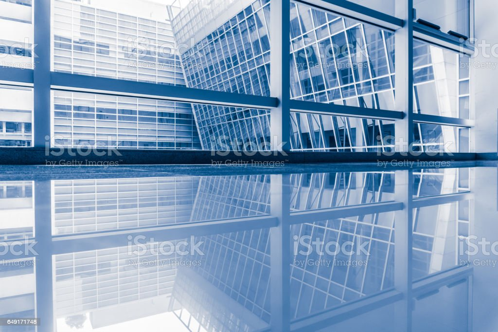 Urban office building indoors stock photo