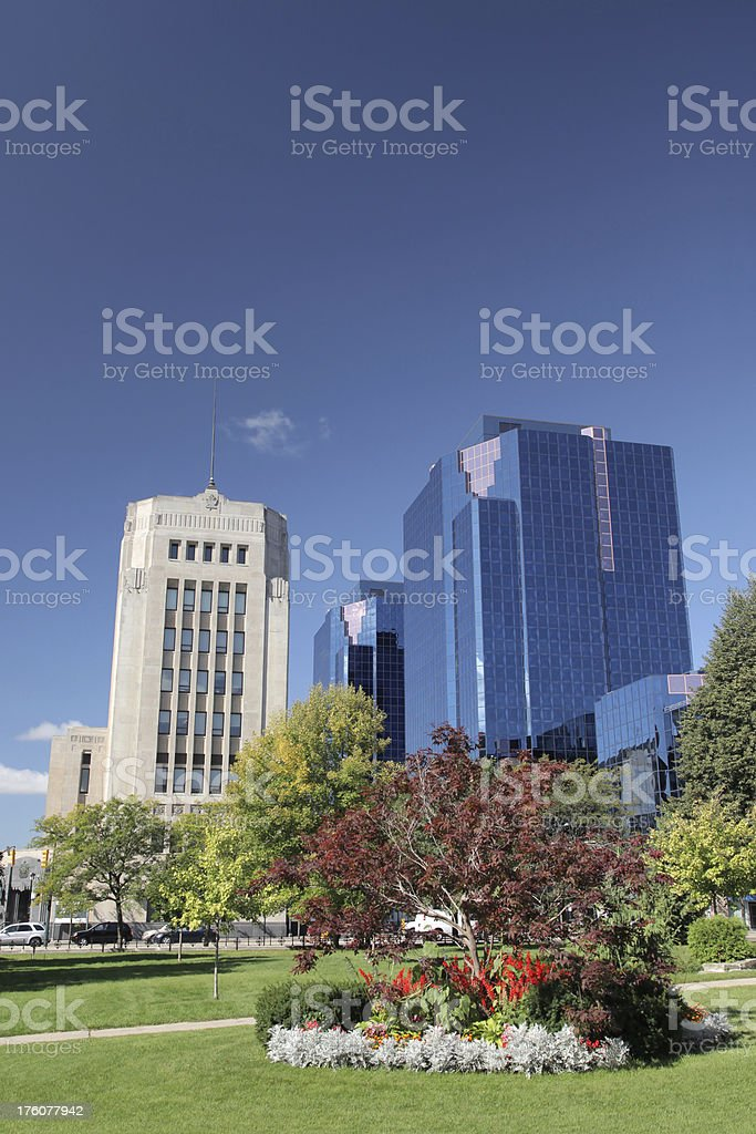 Urban Offices in Downtown London Ontario royalty-free stock photo
