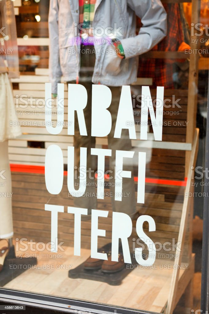 Urban Outfitters Store Window stock photo