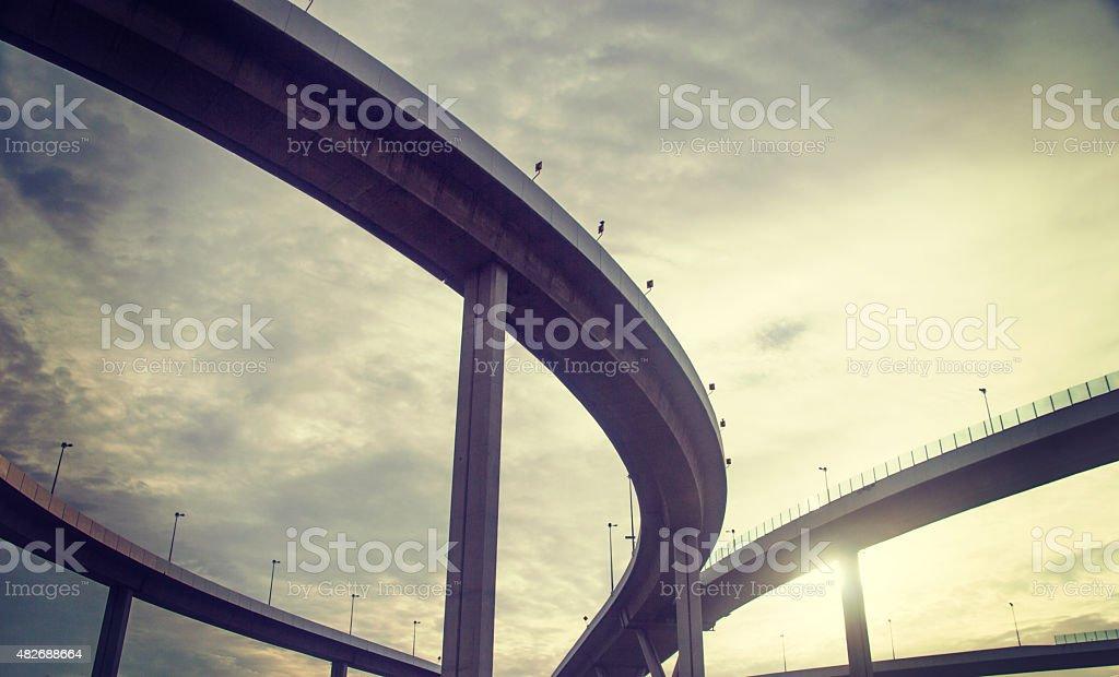 urban overpass stock photo