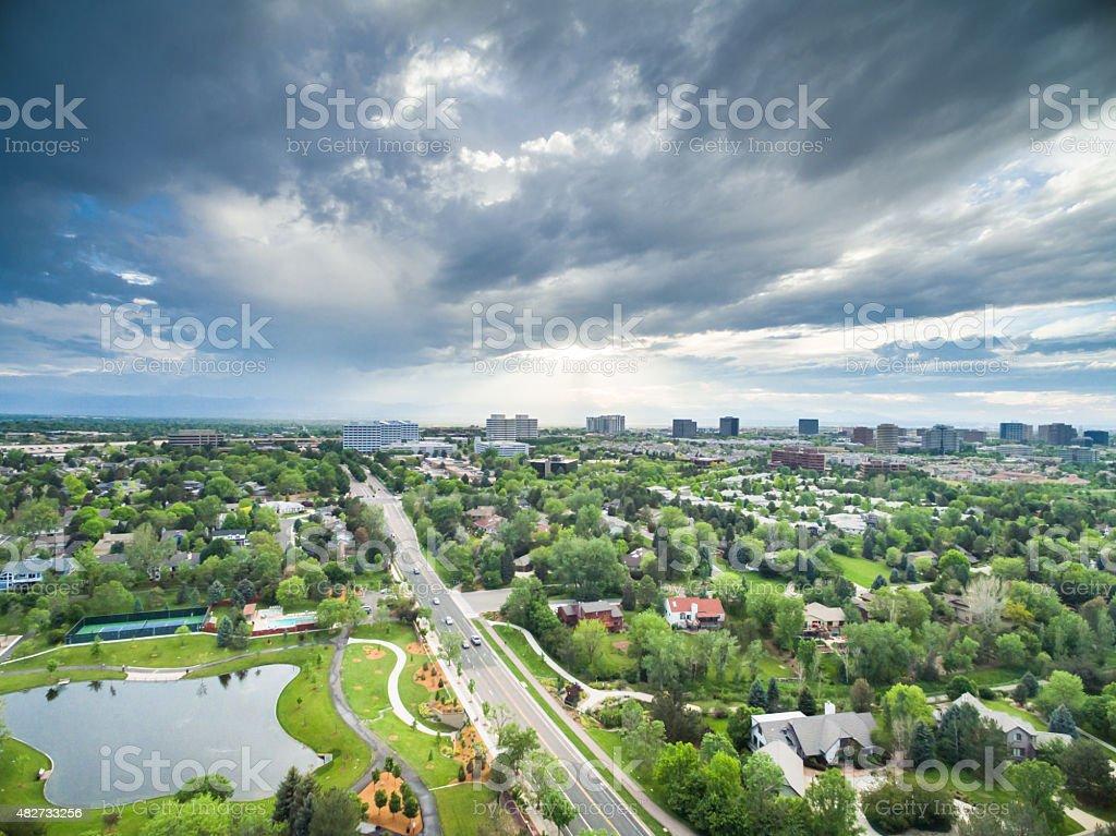 Urban park stock photo