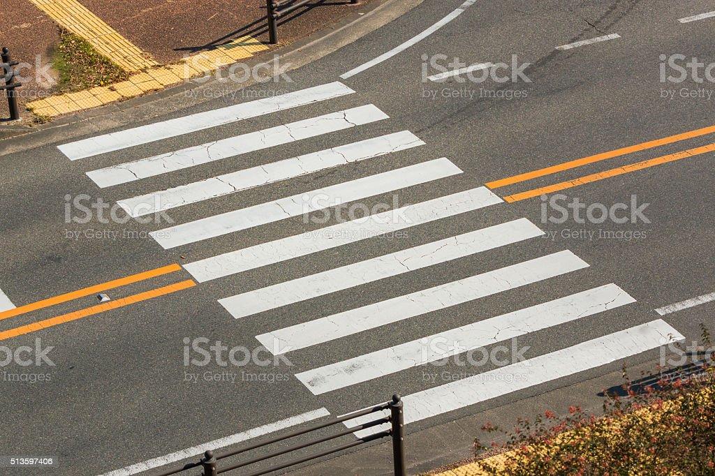 Urban pedestrian crosswalk. stock photo