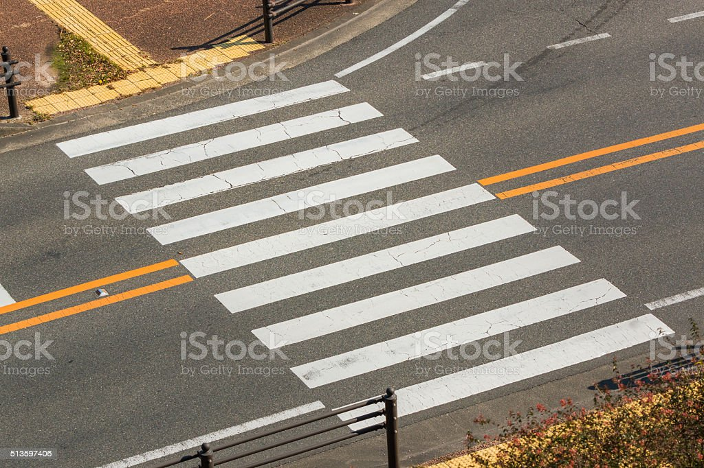 Urban pedestrian crosswalk. stock photo