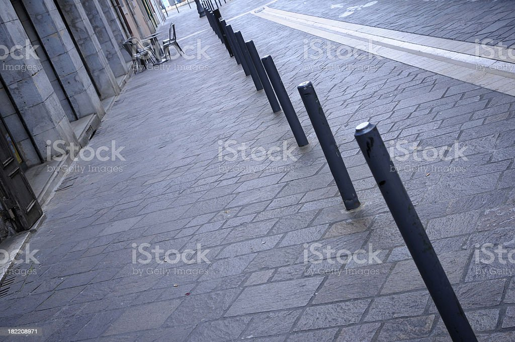 Urban perspective royalty-free stock photo