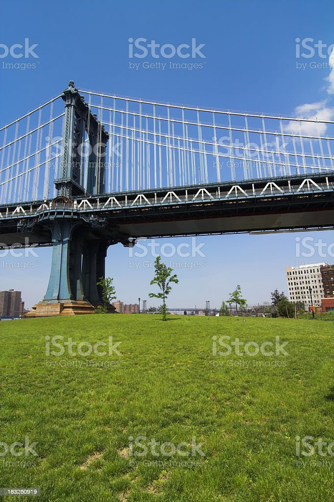 Urban Picnic Spot in Brooklyn royalty-free stock photo