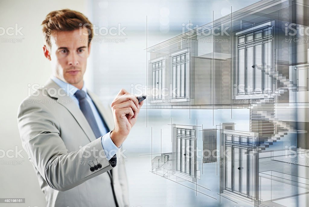 Urban planning in a digital age stock photo
