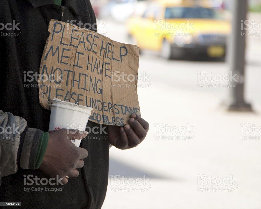 Urban poverty royalty-free stock photo