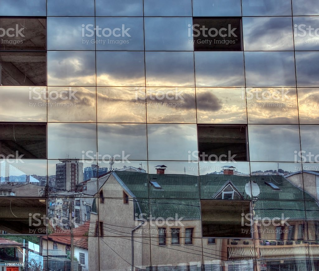 Urban Reflections royalty-free stock photo
