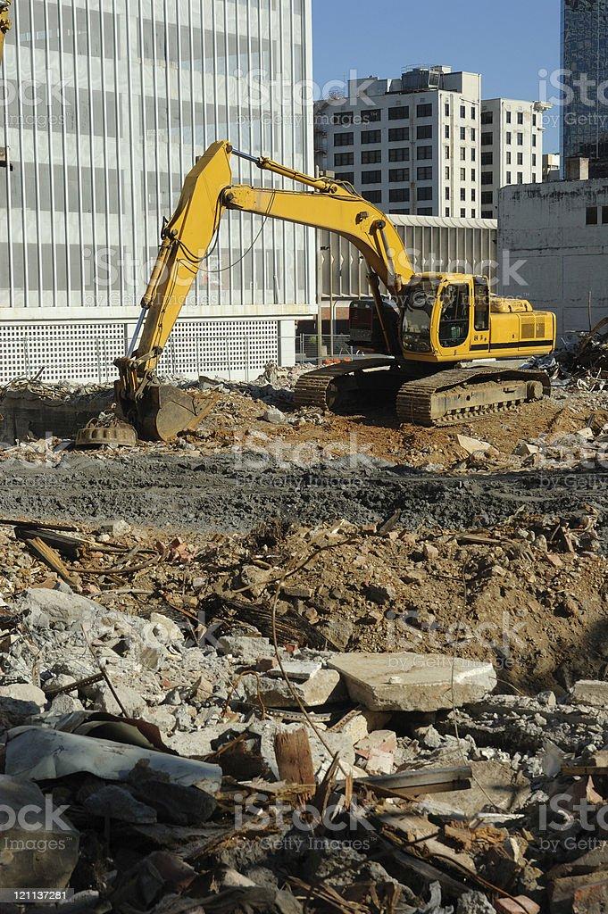 Urban Renewal - Backhoe at Work royalty-free stock photo