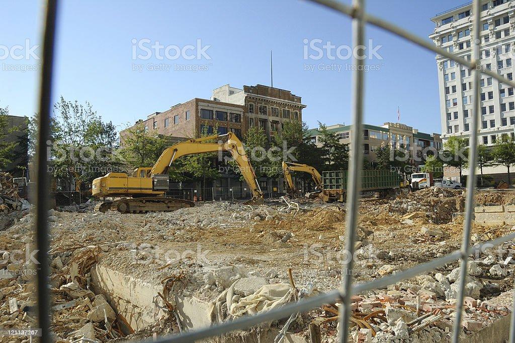 Urban Renewal - Backhoes at Work royalty-free stock photo