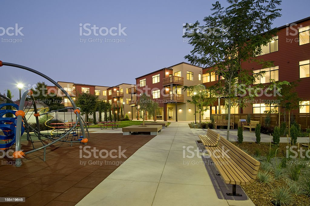 Urban Renewal Multi Family Housing Project stock photo
