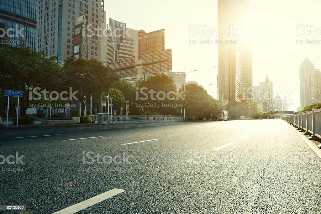 urban road in modern city stock photo
