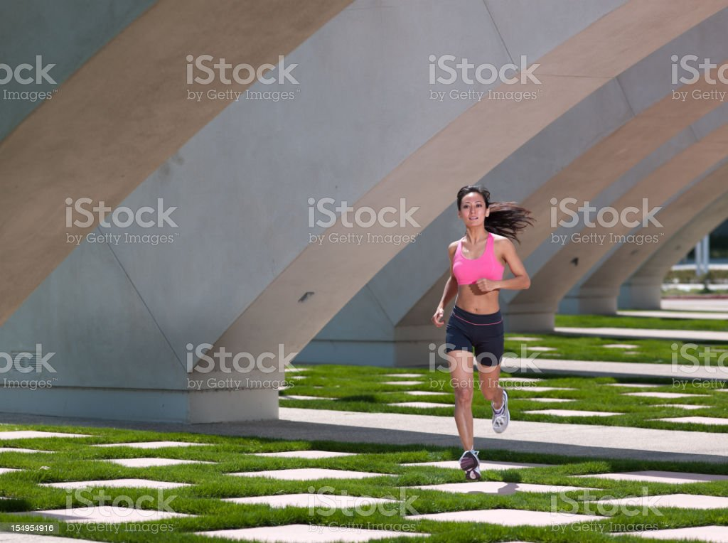 Urban Runner royalty-free stock photo