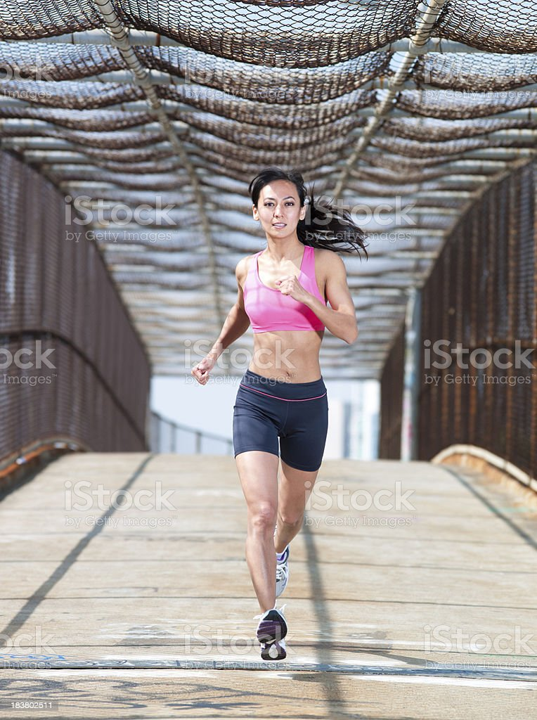 Urban Runner stock photo