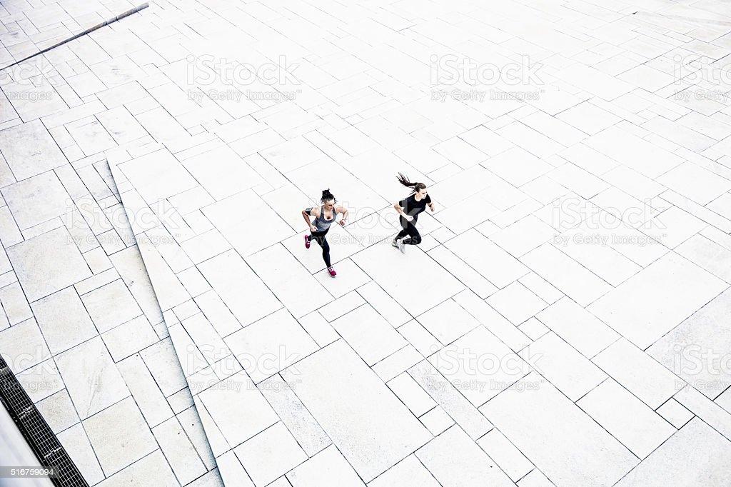 Urban runners stock photo