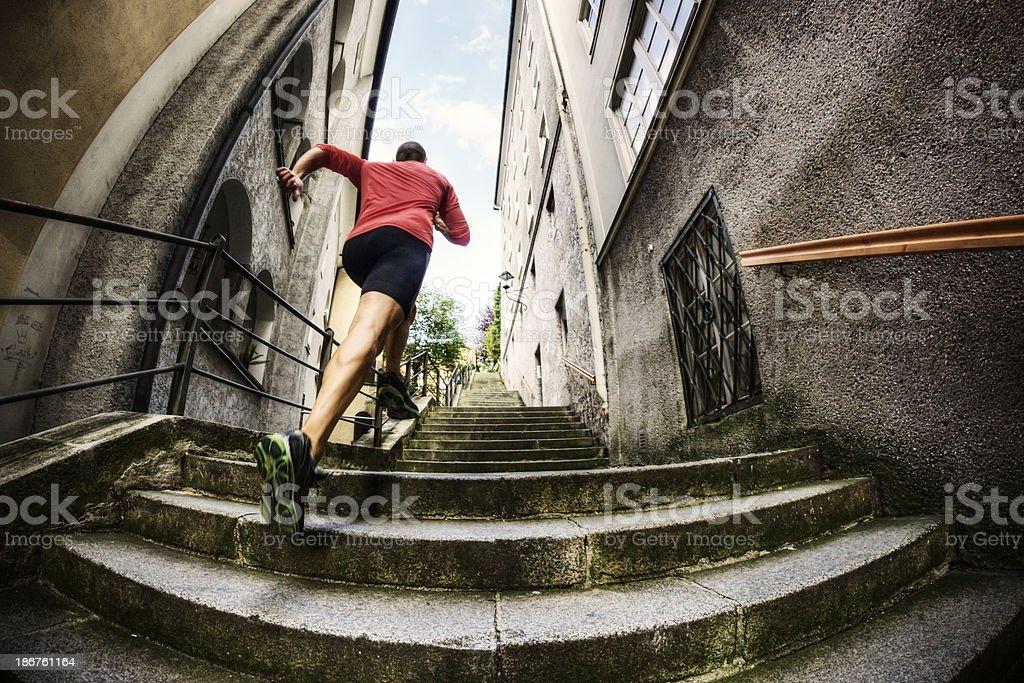 Urban Running royalty-free stock photo