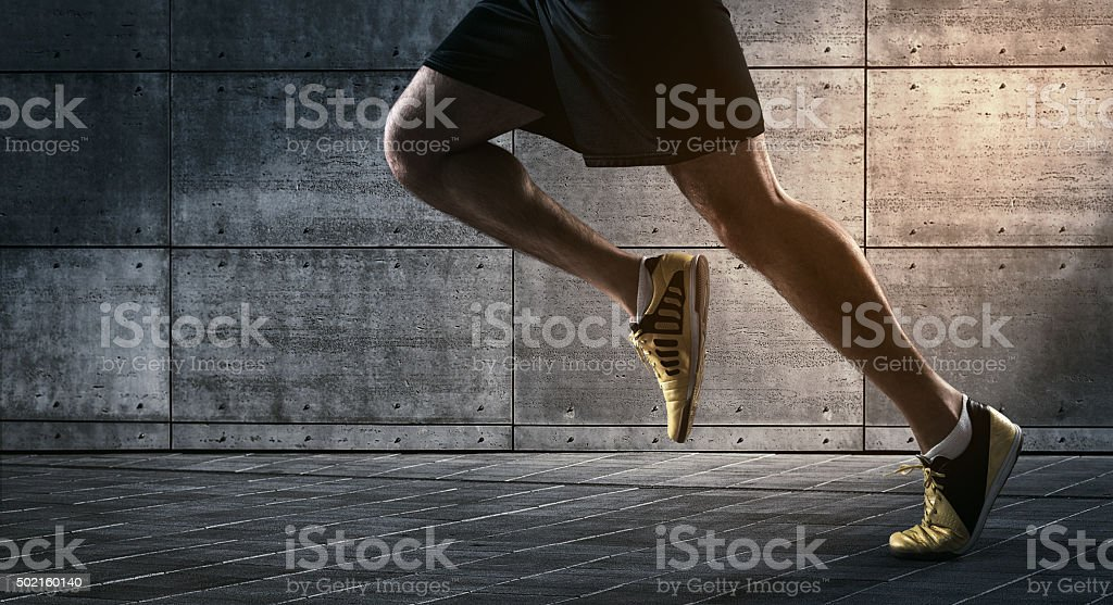 Urban running stock photo