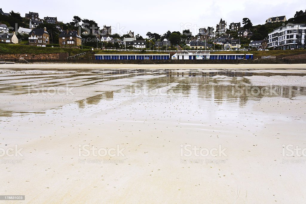 urban sandy beach in Brittany royalty-free stock photo