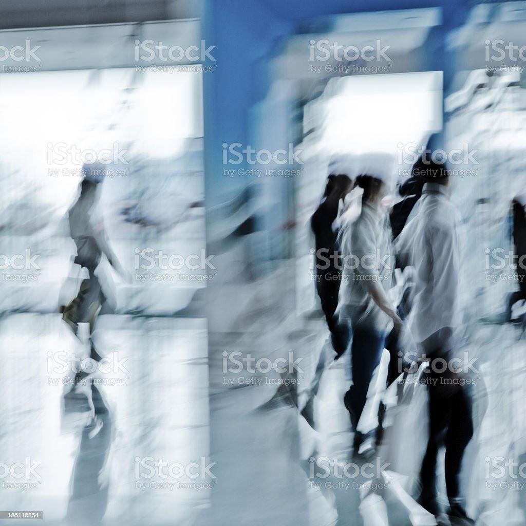 urban scene big city walking business person royalty-free stock photo