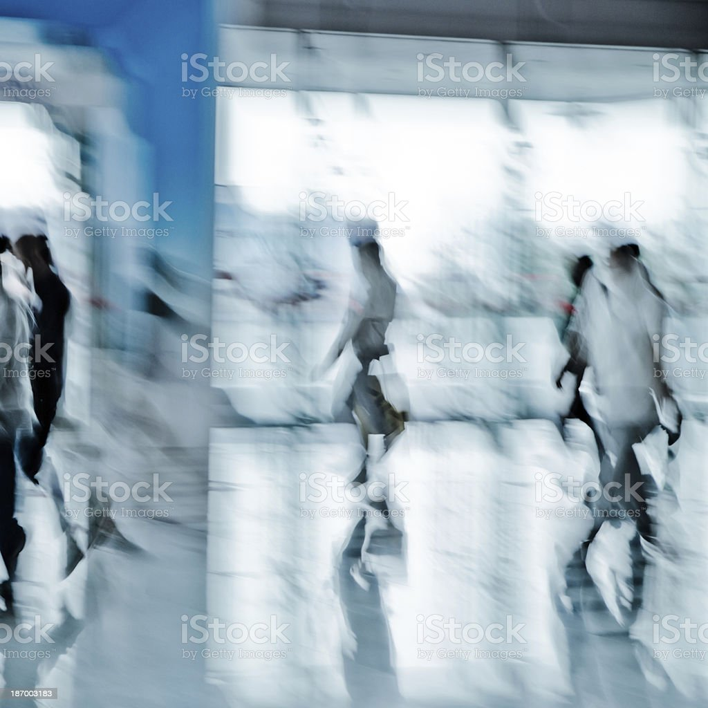 urban scene big city walking business person royalty-free stock photo