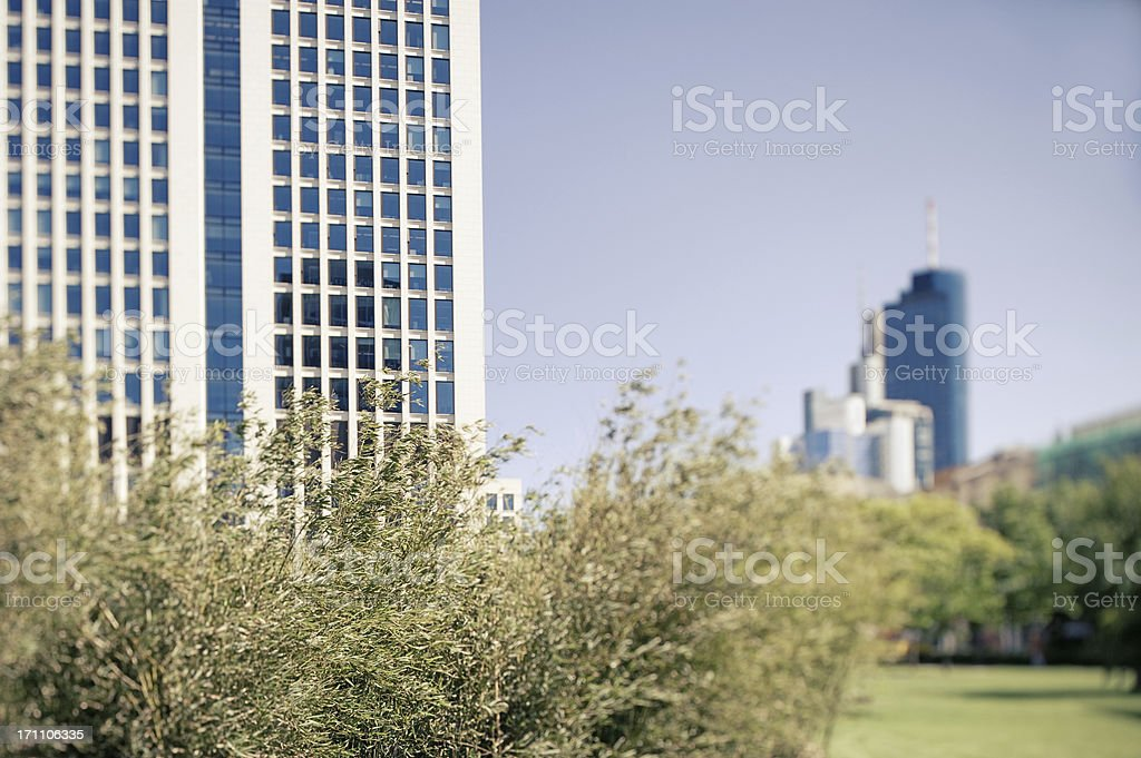 Urban scene, Frankfurt, Germany royalty-free stock photo