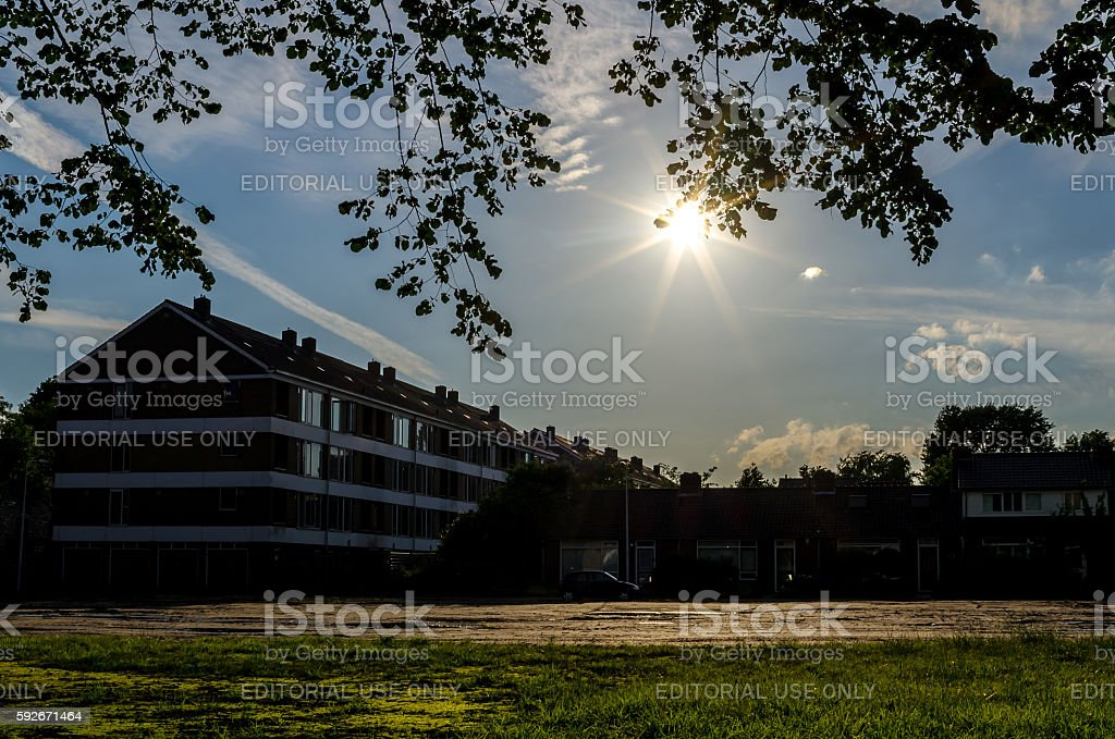 Urban scene in Amersfoort stock photo