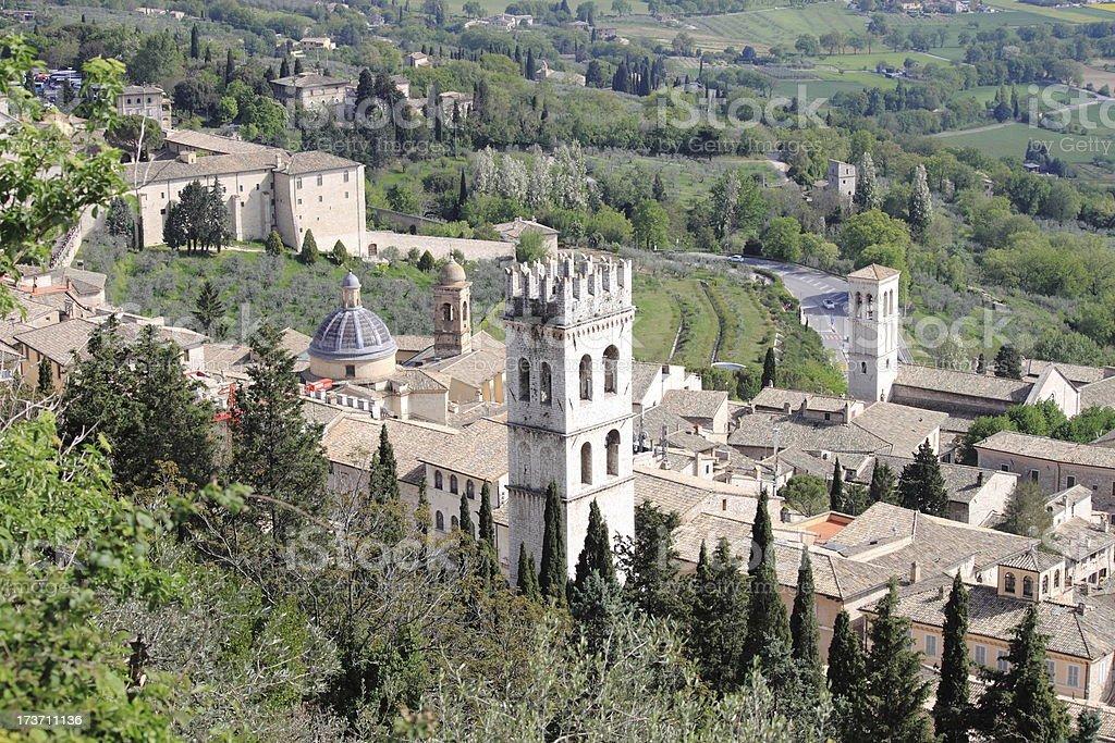Urban scene in Assisi royalty-free stock photo