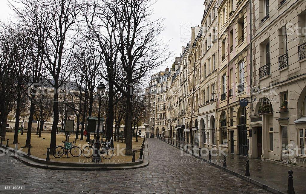 urban scene in  Paris royalty-free stock photo