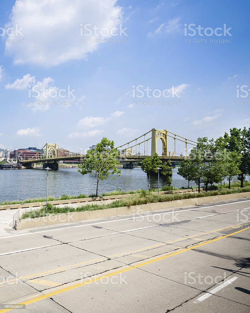 urban scene in pittsburg stock photo
