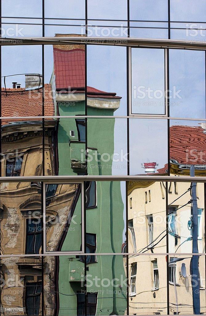 Urban Scene Mirror royalty-free stock photo