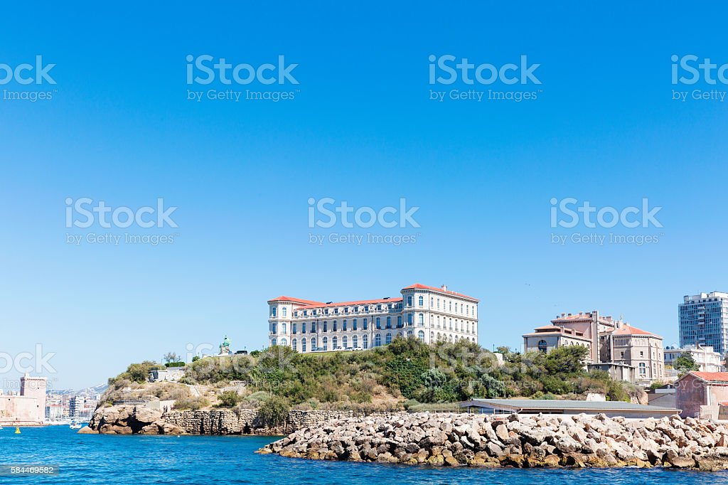 Urban scene of Marseilles stock photo