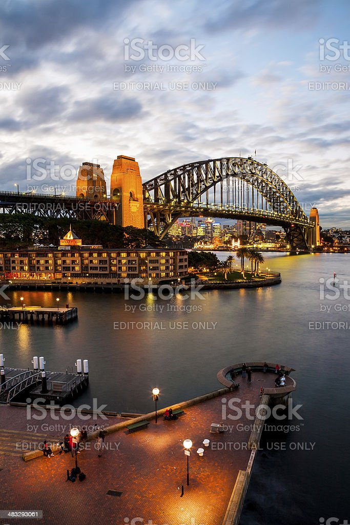 Urban Scene of Sydney Harbour stock photo