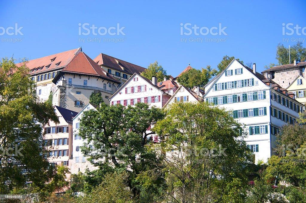 urban scene of Tübingen / Germany stock photo