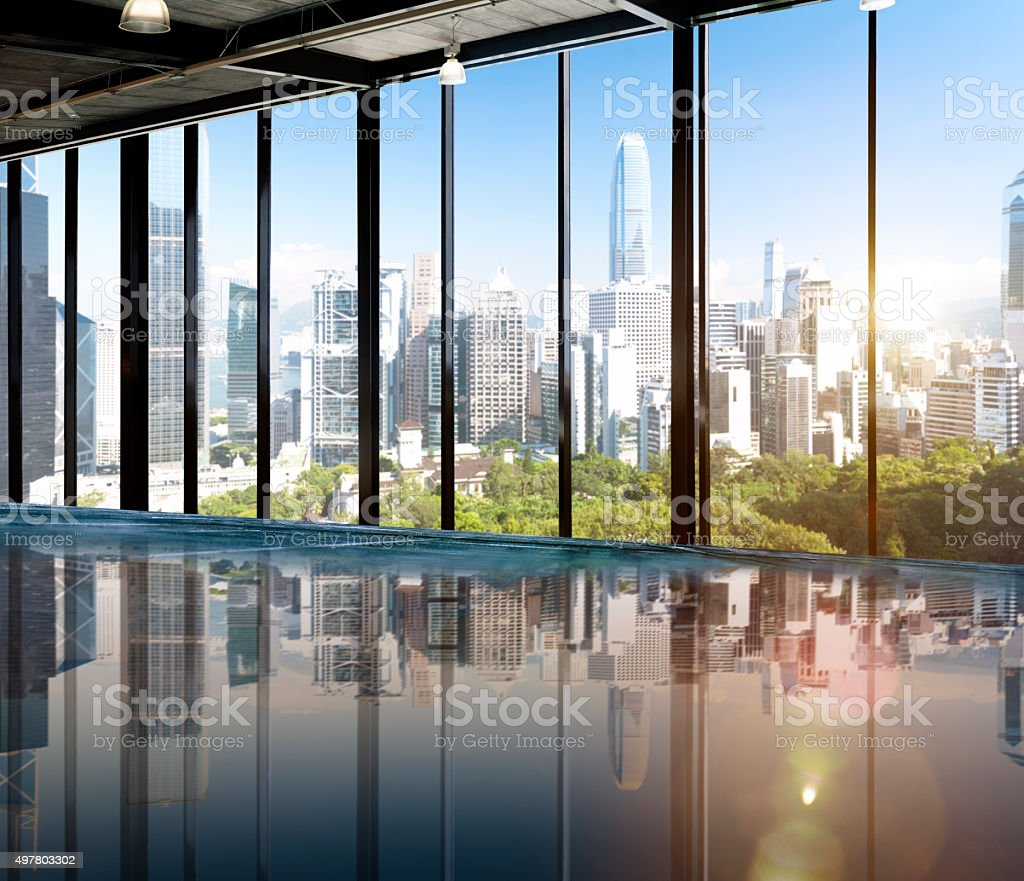 Urban Scene Skyline Morning View Metropolis Concept stock photo