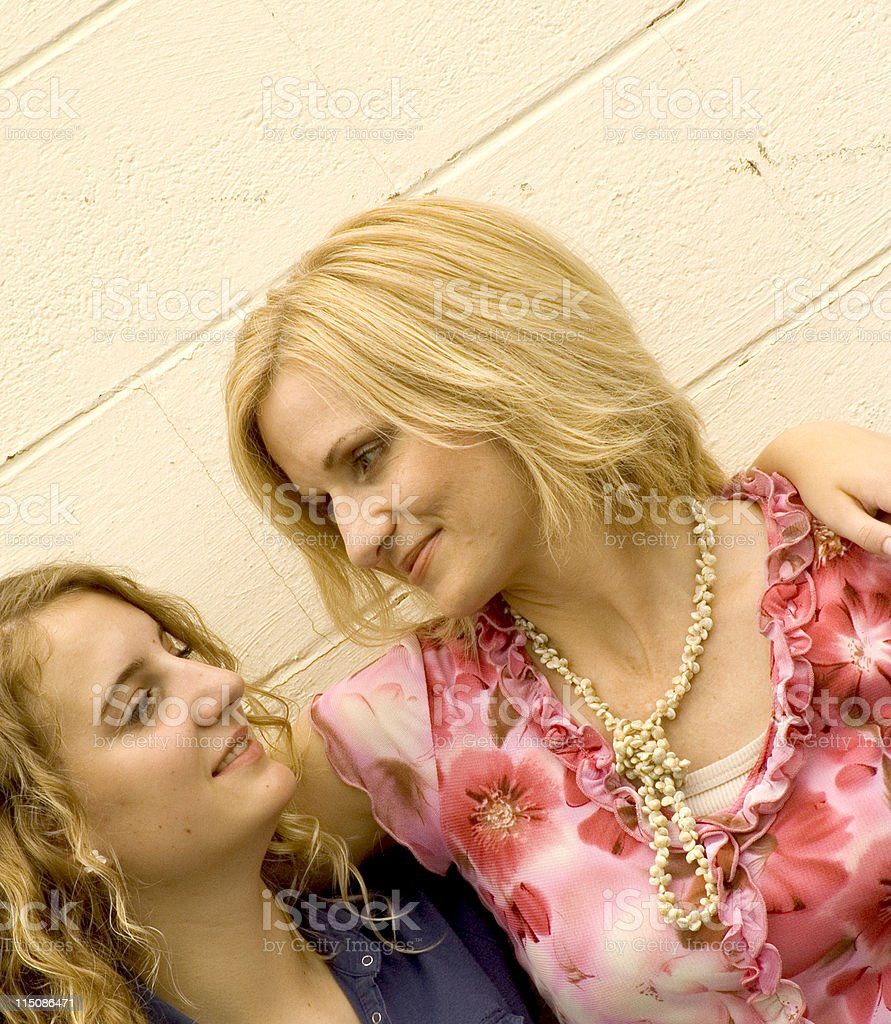 urban scenes - girl middle aged mom royalty-free stock photo