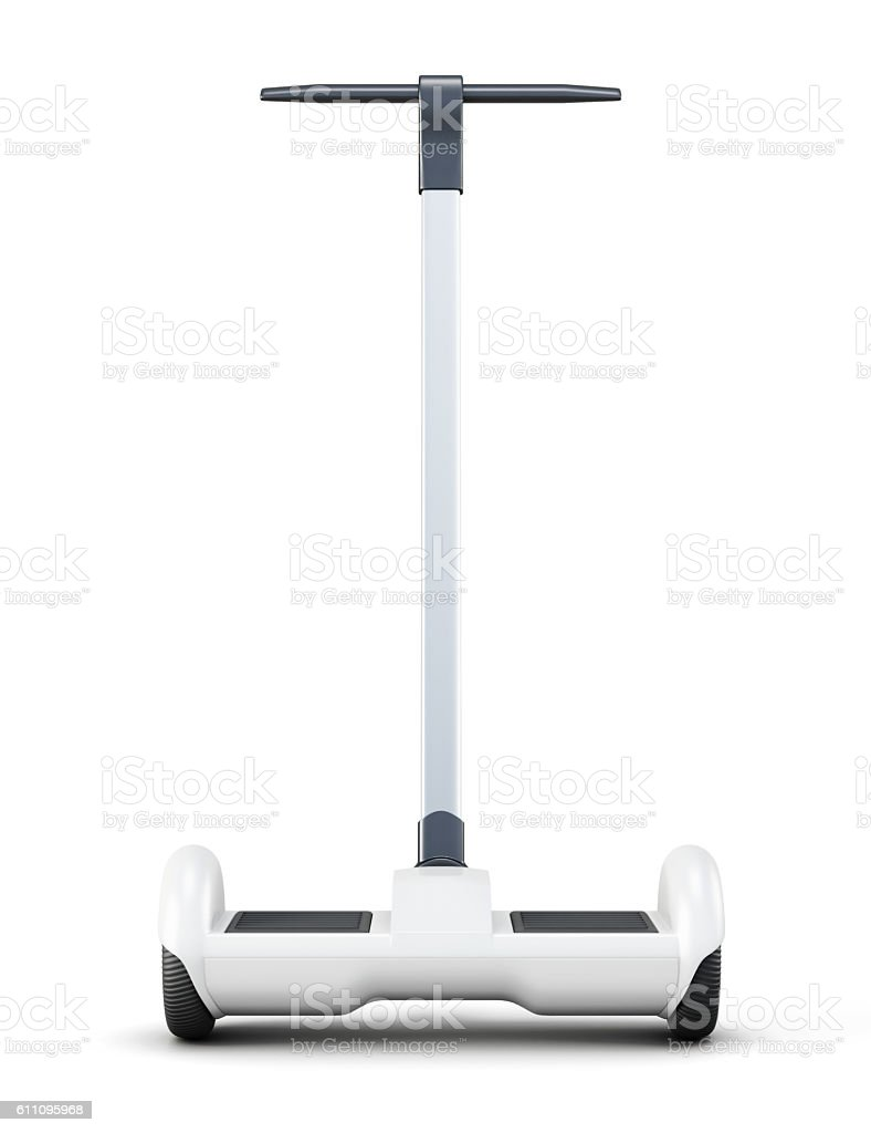 Urban scooter with handle on white background. 3d rendering stock photo