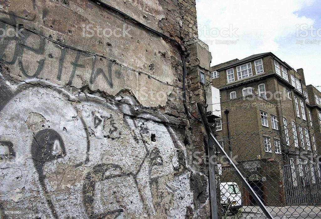Urban scrawl royalty-free stock photo