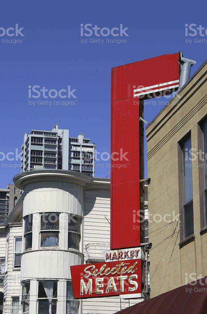 Urban Shop Sign royalty-free stock photo