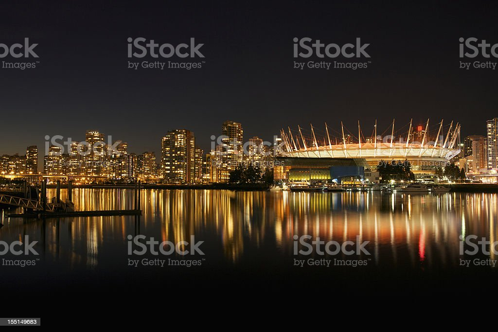 Urban Silhouette of Downtown Vancouver, Canada royalty-free stock photo