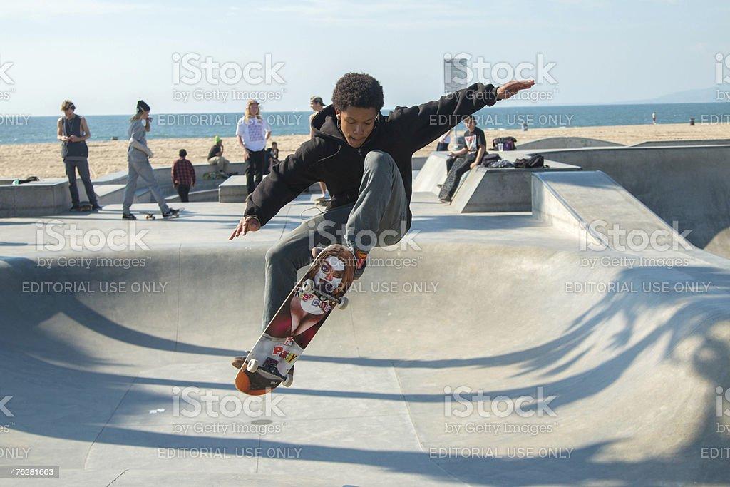 Urban Skateboarder stock photo
