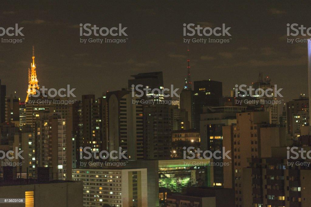 Urban skyline in São Paulo, BRazil stock photo