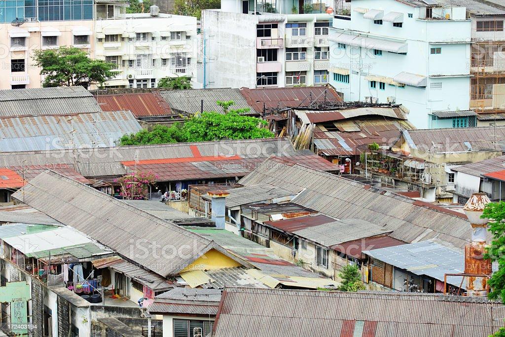 Urban slum royalty-free stock photo
