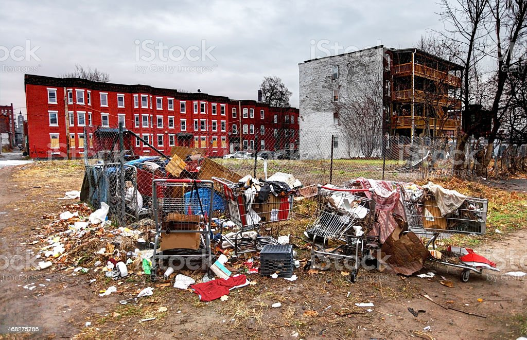 Urban Slum stock photo