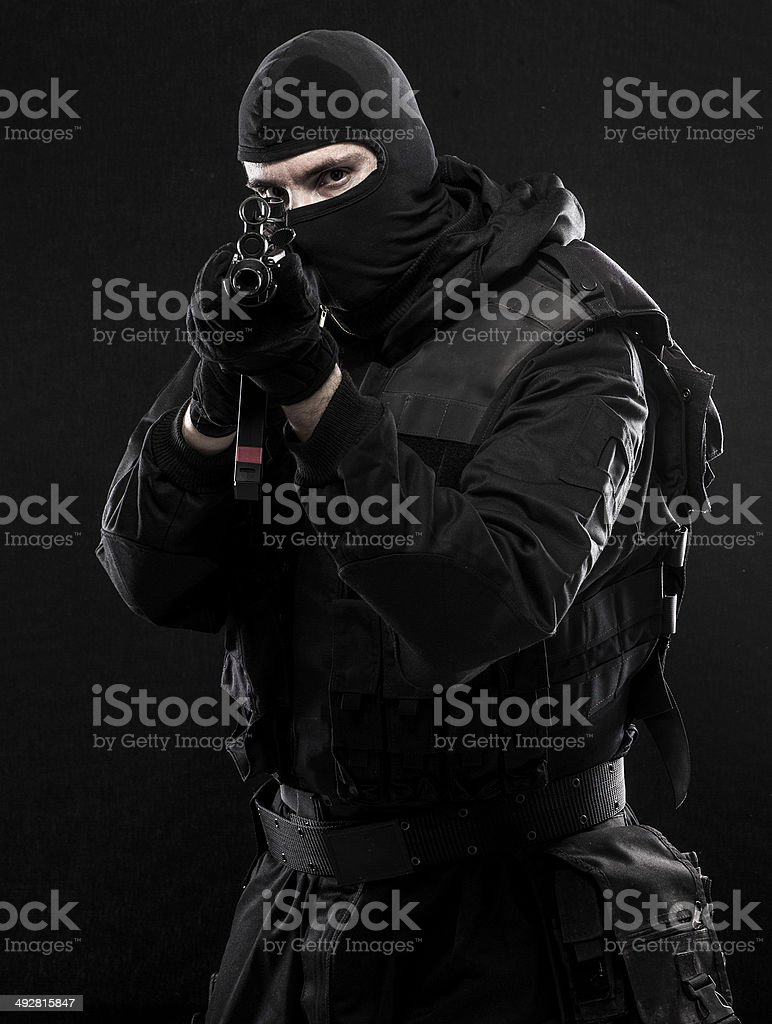 Urban special forces stock photo
