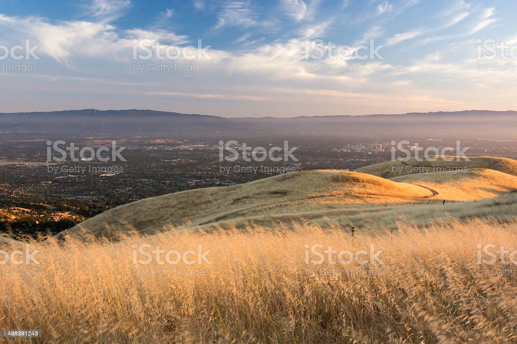 Urban Sprawl in the smog stock photo