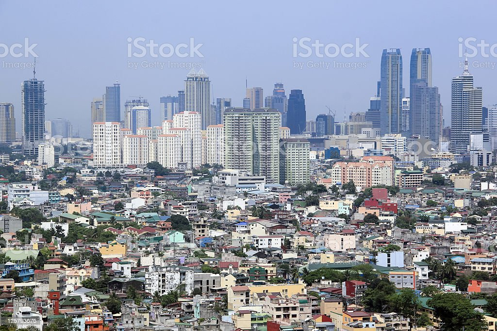 urban sprawl makati city manila philippines stock photo