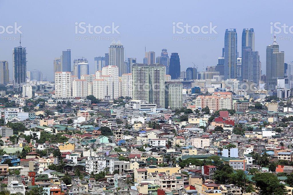 urban sprawl makati city manila philippines stock photo
