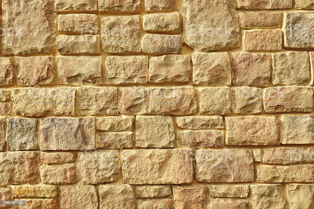Urban Street Limestone Stone Wall Background Texture, Vintage Mo stock photo